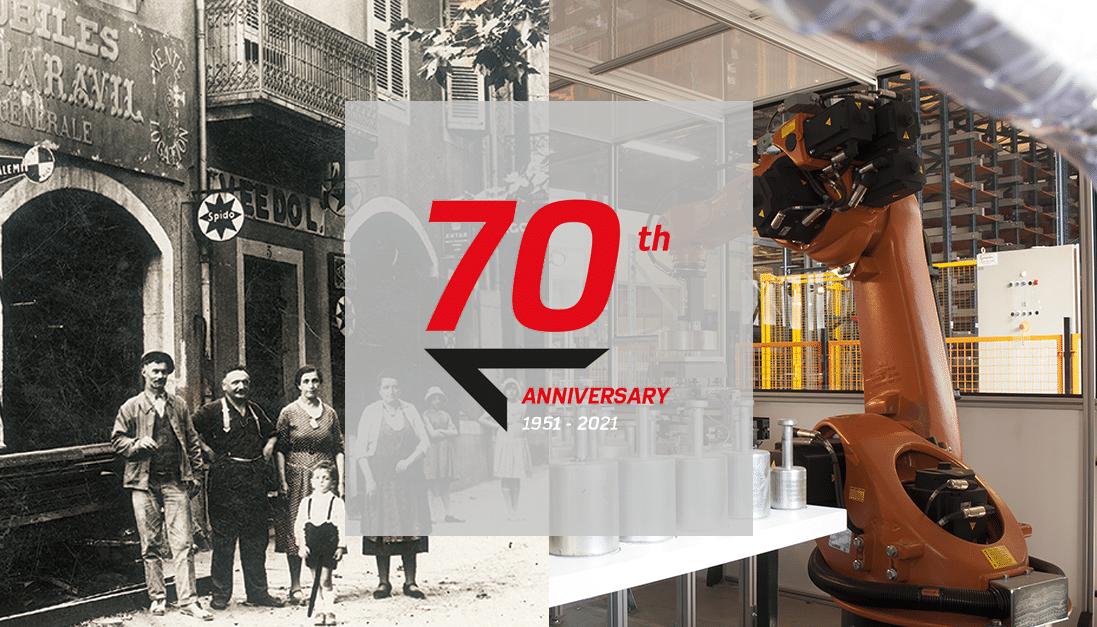 Em 2021, a PRECIA MOLEN comemora seu 70º aniversário.